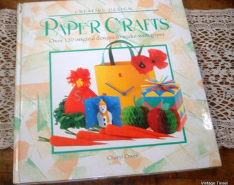Vintage Crafting Book, Paper Crafts, Christmas Crafts, Ornaments, Mobiles, Decorative Boxes, 130 Designs, Illustrated, Cheryl Owen  (860-14)