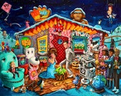 Pee-wee's Playhouse Christmas Nativity Scene Print