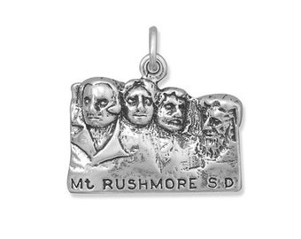 Sterling Silver Mount Rushmore Charm, National Park Charm, National Memorial, Black Hills, South Dakota, Presidents, Collectible Charm