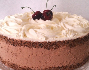 Artificial Cake ~ Fake  Cake ~ Display Cake ~ Bakery Style Chocolate Rosette Cheesecake  ~ Home Staging food ~ Photo Prop ~ Faux Cake