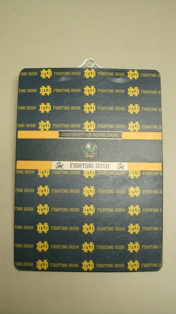 NOTRE DAME Altered Clipboard The Fighting Irish