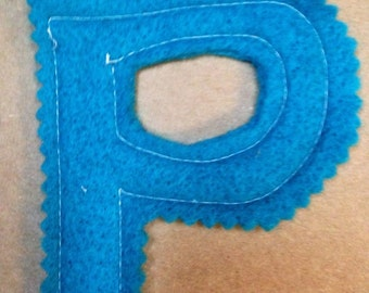 Fabric Letter P patch alphabet for use in your DIY project handmade shabby prim monogramprimitive supplies applique