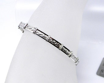 Made-To-Order Rope Motif Slave Collar Alternative sterling silver Slave Bracelet or Anklet TOOL NOT INCLUDED