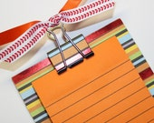 Stripe Post It Note Holder Sticky Note Holder Sticky Pad post it holder Favor Loot Bag Birthday stocking stuffer Easter