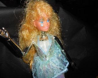 Vintage Mattel Spectra Chrome Robot Girl Doll >> Barbie