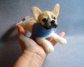 Custom felted Dog Sculpture portrait pet replica / likeness