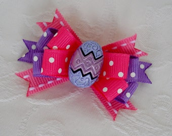 Dog Bow- Easter Egg  Boutique Dog Bow