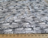 """Upholstery Cotton Western Theme Coiled Ropes - Black & Natural - 62"""" Wide, By The Yard"""