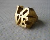 Wearable Pop Art Love Ring by Robert Indiana