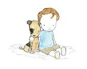 Children's Art -- Best Buddies -- Art Print