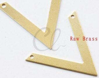 10pcs Raw Brass Arrow Link - Pendant 27x30mm (1996C-P-337)