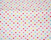 Tiny Heart Print Half meter 50 cm by 106 cm or 19.6 by 42 inches (HAKO15A)