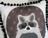 DIY Pillow Panel - Raccoon