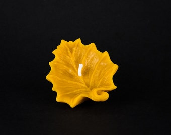 Pure Beeswax Candle - Floating Maple Leaf Candle - unique fall decor