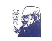J.R.R Tolkien - Hand Carved Rubber Stamp