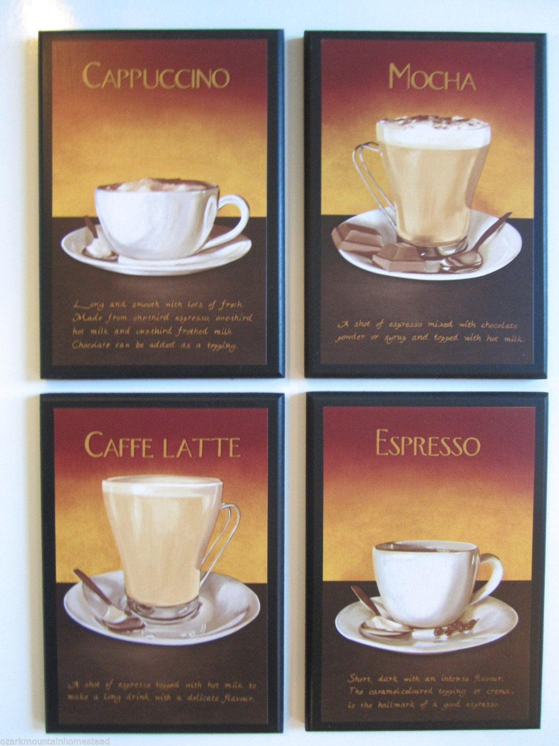 Coffee Lovers Kitchen Wall Decor Plaques Mocha Espresso