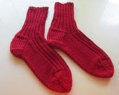 Two Pairs of Hand Knit Women's Socks Size 9 Custom Order for Terri Hunter (periwinklefoolery)