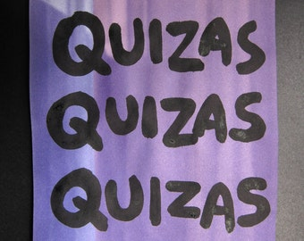 lyric painting - Quizas Quizas Quizas