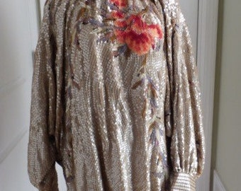 Gold Sequin Tunic Dress