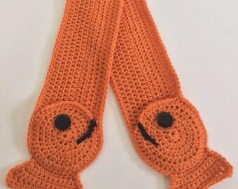 Little Fish Crochet Scarf  Pattern - PDF