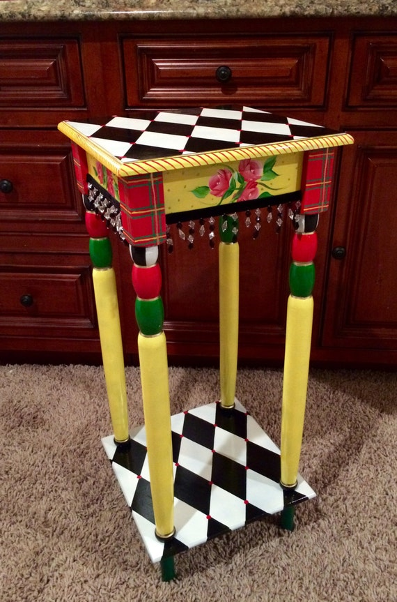 Whimsical Painted Table Whimsical By Michelespraguedesign