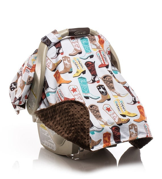Boy Cowboy Carseat Canopy Car Seat Canopy Carseat Cover