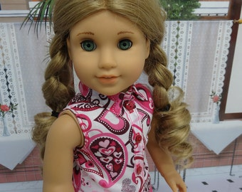 Playground Sweetheart - Sleeveless blouse and capris for American Girl