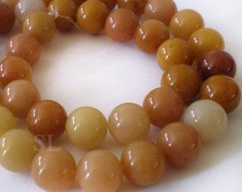 Full strd -10mm Natural Mix Golden Brown gemstone 39 pcs per strand