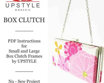 Box Clutch Clamshell Minaudiere Purse Frame Instructions - Digital Download PDF Sewing Pattern - Detailed Instructions Color Photos