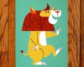 Dancing Lion Print 8x10