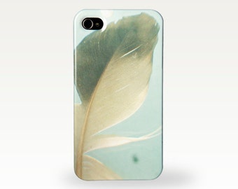 Grey Feather. Hard Case for iPhone 4/4s, 5/5s, 5c, 6, 6 Plus and Samsung Galaxy S3, S4. Nature Photographic Dreamy Smartphone Cover