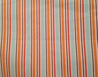 1.5 yds Riley Blake All Star 2 Stripe in Orange My Mind's Eye