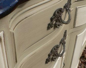 Custom .. Fabulous petite FRENCH PROVINCIAL Sideboard dresser CABINET buffet  ..