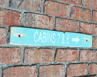 Rustic Distressed Wood Sign Old Camping Log Cabin Decor