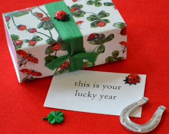 This is Your Lucky Year--Message Box with Good Luck Tokens