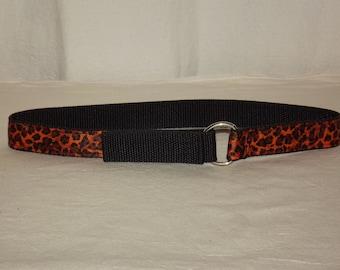 Orange Cheetah Toddler Belt