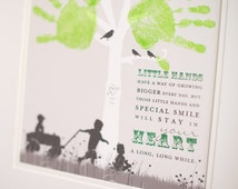 Art, Handprint Art Personalized with silhouettes // featuring children ...