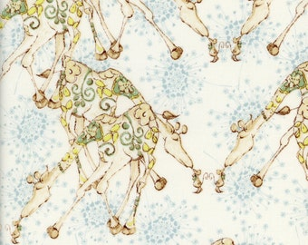 Tina Givens Fabric Giraffes in Sand from the Riddles and Rhymes Collection  1/2 Yard