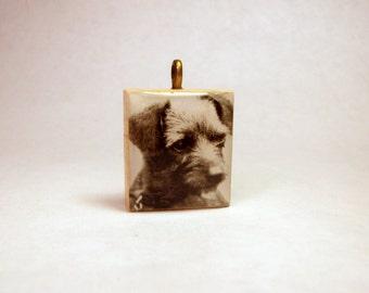 BORDER TERRIER Pendant / SCRABBLE / Handmade Unusual Gifts / Dog Jewelry