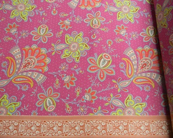 Amy Butler Soul Blossoms Sari Blooms Cotton Fabric in Raspberry AB57