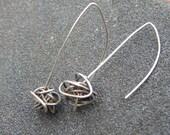 Mumbo Jumbo sterling silver oxidized knot dangle earrings