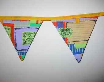 Retro Yellow Geometric Bunting