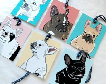 Frenchie Gift Tags - Set of 6