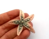 Starfish Brooch, Eco Friendly Mixed Metal Jewelry, Copper and Silver Pin