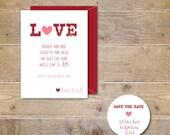 Wedding Save The Dates . Valentine's Day Save The Dates . Wedding Announcements . Valentine's . Valentine's Day Wedding - LOVE