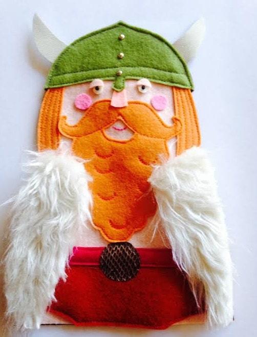 Handmade Viking Tree Topper, Christmas Tree Decoration