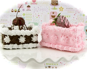 Fake Petit Fours Chocolate & Strawberry Petit Fours. Birthday Party or Home Decor. 12 Legs Designer Collection