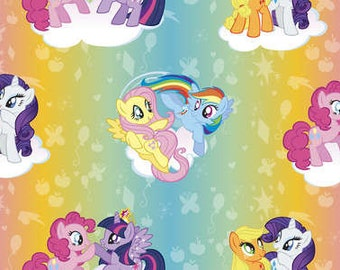 Hasbro My Little Pony Ombre Toss Cotton Woven fabric by the yard