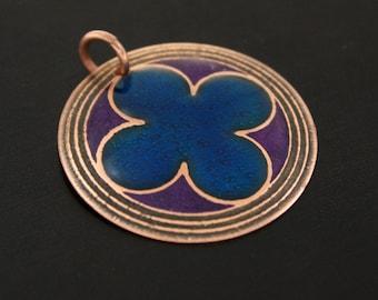 quatrefoil pendant, gothic pendant, quatrefoil necklace, cathedral pendant, clover necklace, clover necklace for women, stain glass pendant