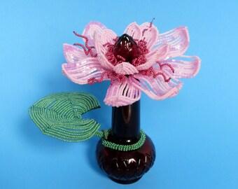 Lotus - French Beaded Flower